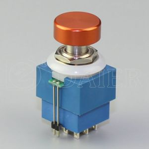 Single-Color LED Footswitch; Colorful Aluminum Cap Electric Foot Switch (PBS-24-302-KN1) pictures & photos