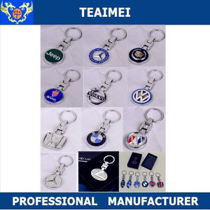 Various Car Logo Design Metal Chrome Key Chains pictures & photos