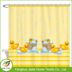 Waterproof Polyester Duck Printed Bathroom Kids Shower Curtain pictures & photos