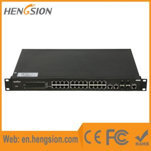 802.3af Poe Ethernet Network Switch 24 Port and 4 SFP pictures & photos