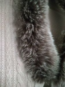 Trj011, 100%Cashmere, with Real Fur, Poncho, Women&Lady pictures & photos