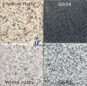 G603/654/G664/Rusty Grey Black Yellow White Natural Granite Tile Slab pictures & photos