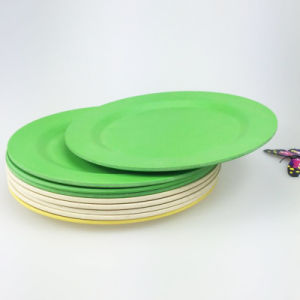 SGS Approved Eco Bamboo Fiber Kitchenwareware Plate (YK-P4007) pictures & photos