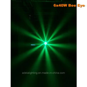 6X40W Bee Eyes LED Moving Head Beam Zoom Wash Light pictures & photos