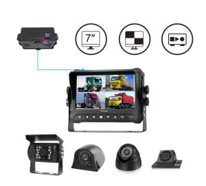 1080P 4CH DVR Monitor with Touch screen for Truck Tracking pictures & photos
