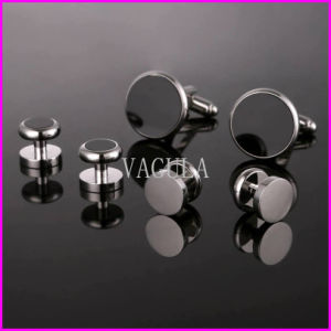 VAGULA New AAA Quality Silver Onyx Gown 6PCS Set Collar Studs 265 pictures & photos