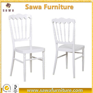 White Color Wooden Napoleon Chair with Hard Cushion for Sale pictures & photos