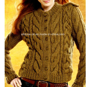 Custom High Quality Winter Wool Hand Knit Sweater Cardigan pictures & photos