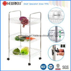 Adjustable Chrome Metal Kitchen Basket Wire Rack Manufacturer pictures & photos