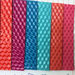 Cube Design PVC Leather for Making Bags pictures & photos