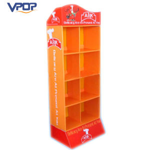Supermarket Strong Structure Food Snack Display Stand Cardboard