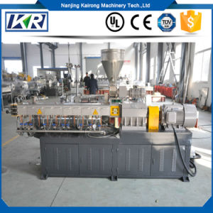 Factory Best Price ABS HDPE LDPE Raw Material Twin Screw Extruder Pelletizer Granulator/WPC Cable Black Wood Plastic Extruder pictures & photos