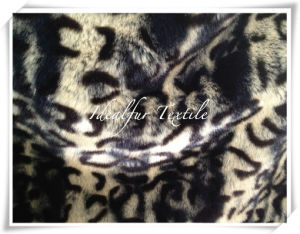 Printed Faux Fur with Leopard Point pictures & photos