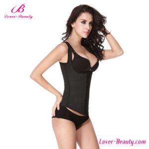 Classic Energetic U Style Black Latex Waist Trainer pictures & photos