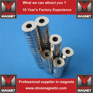 NdFeB Round Magnets with Holes Super Strong Magnets pictures & photos