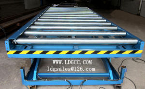 Warehouse Stationary Hydraulic Lift Platform with Roller Table pictures & photos