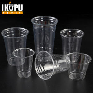 0.75-32oz Custom Printed Clear Transparent Disposable Pet Plastic Cup with Lid pictures & photos