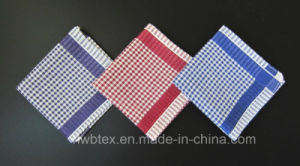 Cheap Cotton Woven Check Hankie/Bandana/Tea Towel (HWBC032) pictures & photos