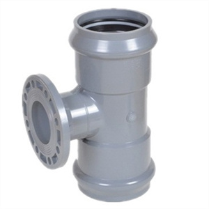 Rubber Ring Joint PVC Reducing Tee DIN Standard pictures & photos