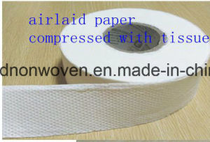 Nonwoven Fabric of High Water Absorbability Airlaid Paper pictures & photos