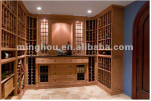 Large-Scale Wood Wine Cellar Cabinet Racks pictures & photos