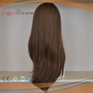 Best Selling 100% Human Hair Brown Color Jewish Wig Type High End Front Lace Wigs pictures & photos