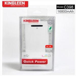 Kingleen Model C398 Large Capacity and High Quality Power Bank 16800mAh Dual USB 2A Output pictures & photos
