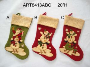 Stacking up Christmas Figure Stocking, 3asst-Christmas Decoration pictures & photos