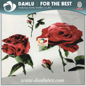 300t Red Rose Printed Taffeta Fabric for Downcoat, Jacket pictures & photos