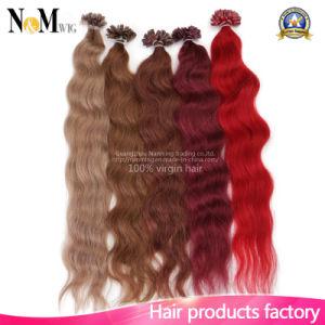 Natural Keratin Brazilian Virgin Human Hair Cotton Thread Hair Extension pictures & photos