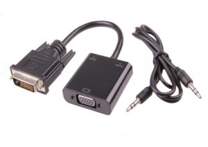 DVI to VGA Converter with 3.5mm Audio pictures & photos