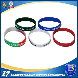 Silicone Wristband with Printed Logo pictures & photos