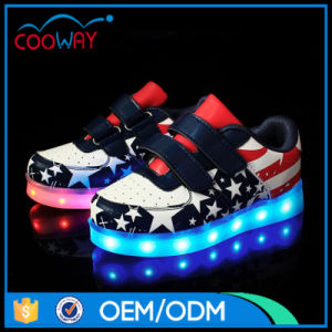 New Arrival Flashing Disco LED Light Shoes for Kids