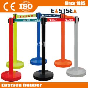 Colored Plastic Pedestrian Retractable Queue Rope Barrier pictures & photos