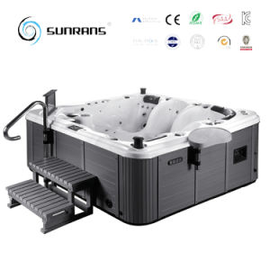 Sunrans Hot Tub SPA Supplier Luxury Design Outdoor 5person Massage SPA Tub pictures & photos