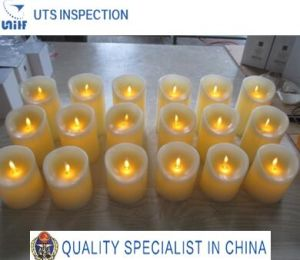 LED Wax Candle Quality Control and Inspection Service China
