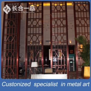 High-End Classic Design Stainless Steel Folding Screen Partition for Hall pictures & photos