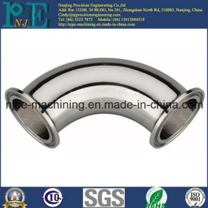 High Precision Custom CNC Machining Chrome Plated Metal Pipe Fitting pictures & photos