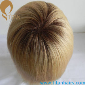 Custom Hair Systems Thin Skin Indian Remy Hair Toupee pictures & photos