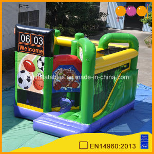 Inflatable Sport Balls Combo Slide Bouncer Game (AQ707-8) pictures & photos