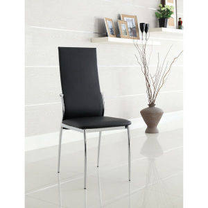 Black and White Modern Leatherette Stainless Steel Dining Chairs (JK-B1013) pictures & photos
