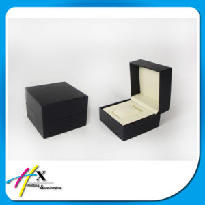 Hot Sale Basic Matte Black Single Wooden Watch Box pictures & photos