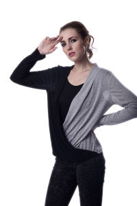 OEM Top Design Women Fashion Wear Tops Blouse Custom Two Color Tops Blouses pictures & photos
