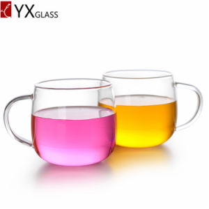Double Wall Glass Cup with Handle/High Borosilicate Drinking Glass Tea Mug/Coffee Juice Milk Cup pictures & photos