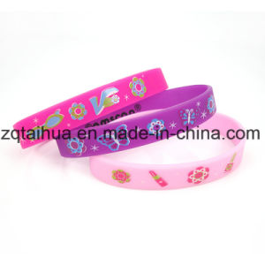 Silicone Glow Fashionale OEM Sports Wristband pictures & photos