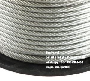"5/8""; 19/3.18mm Galvanized Steel Wire / Guy Strand / Ehs Guy Wire pictures & photos"