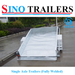 New Type Factory Direct Fully Welded Single Axle Trailers pictures & photos