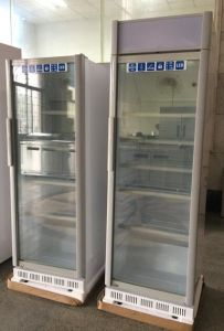 2017 New Design 360L Glass Door Fridge for Beverages