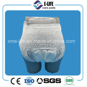 Europe Size XL Adult Diaper Pull up with Slim V Crotch pictures & photos