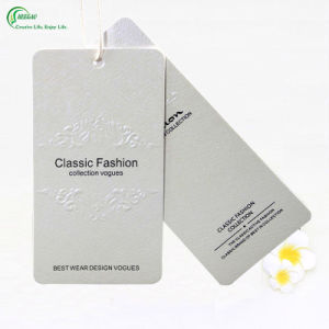 White Card Eco-Friendly Printed Logo Hang Tag (KG-PA027)